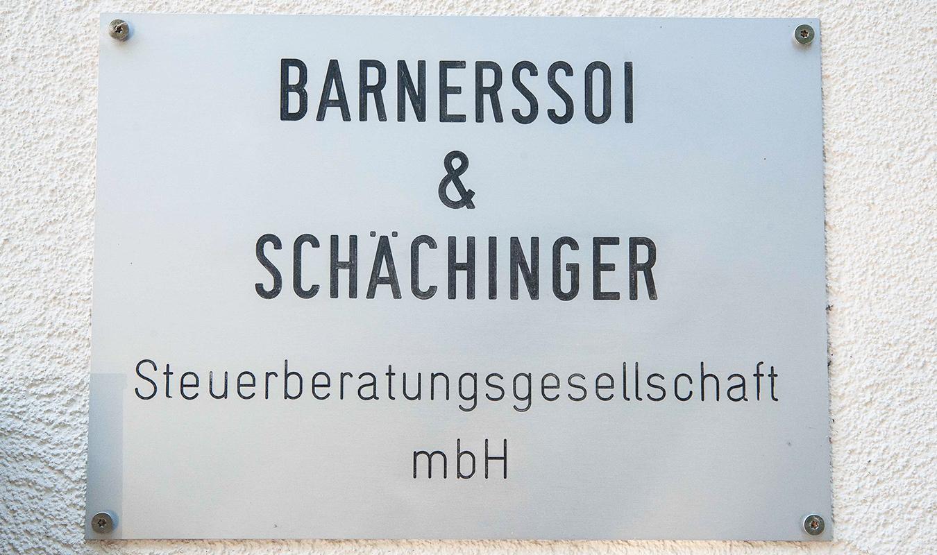 Firmenschild Steuerberatungsgesellschaft Barnerssoi & Schächinger